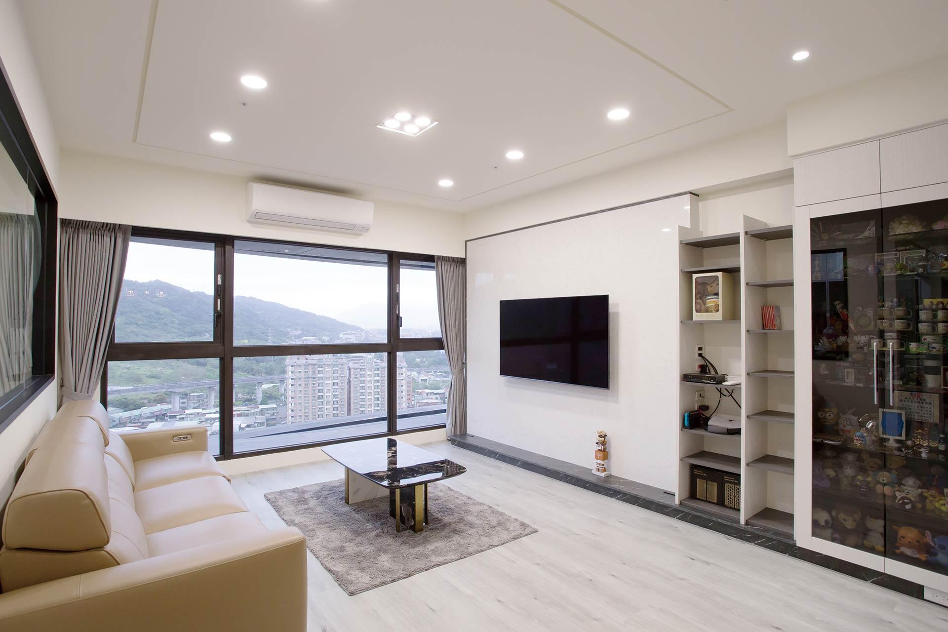 現代風格室內設計作品:爽朗現代風 收納於無形隱藏櫃體設計