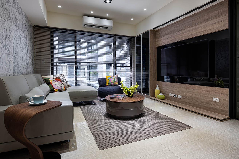 現代風的客廳-帶有一種高雅時尚的氣息;