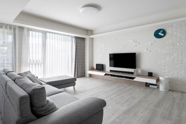北歐風格牆面設計白淨背景,突顯家具主題