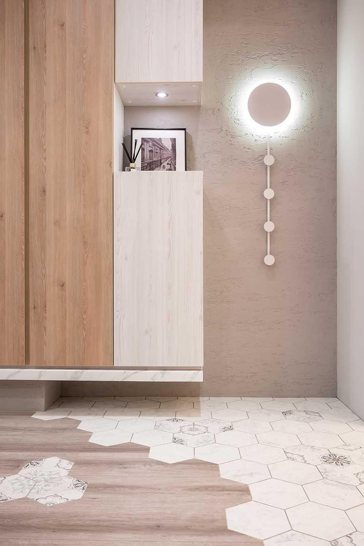 北歐風利用木地板延伸空間