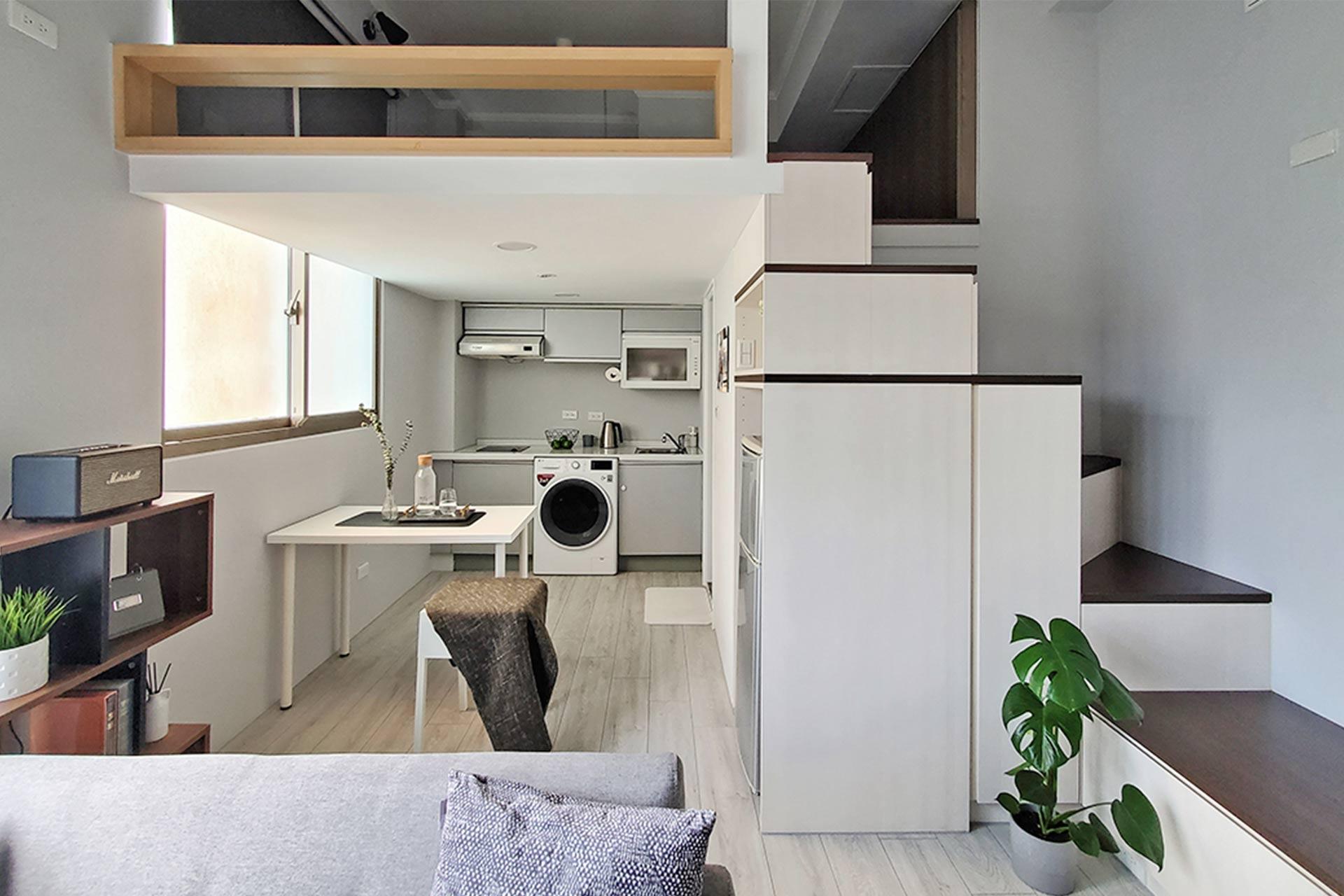簡約現代風|放大樓中樓小宅