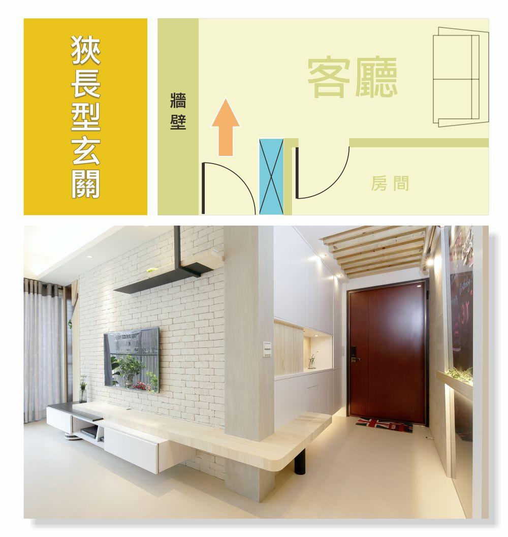 狹長型玄關收納設計重點;
