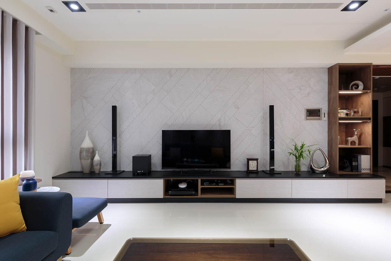 現代風-磁磚元素電視牆;