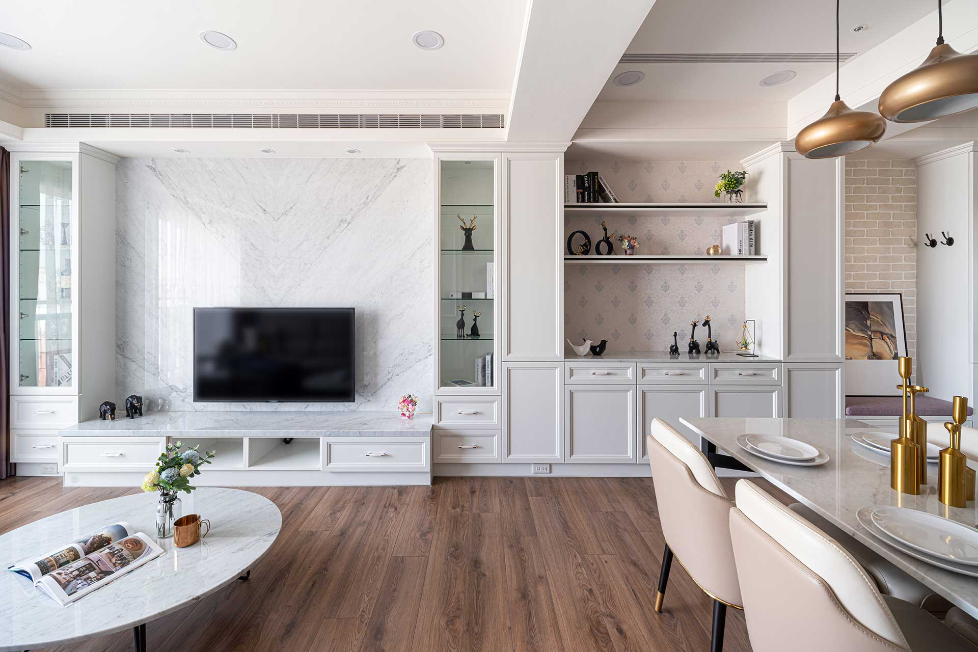 經典新古典風對稱視覺美,室內設計案例