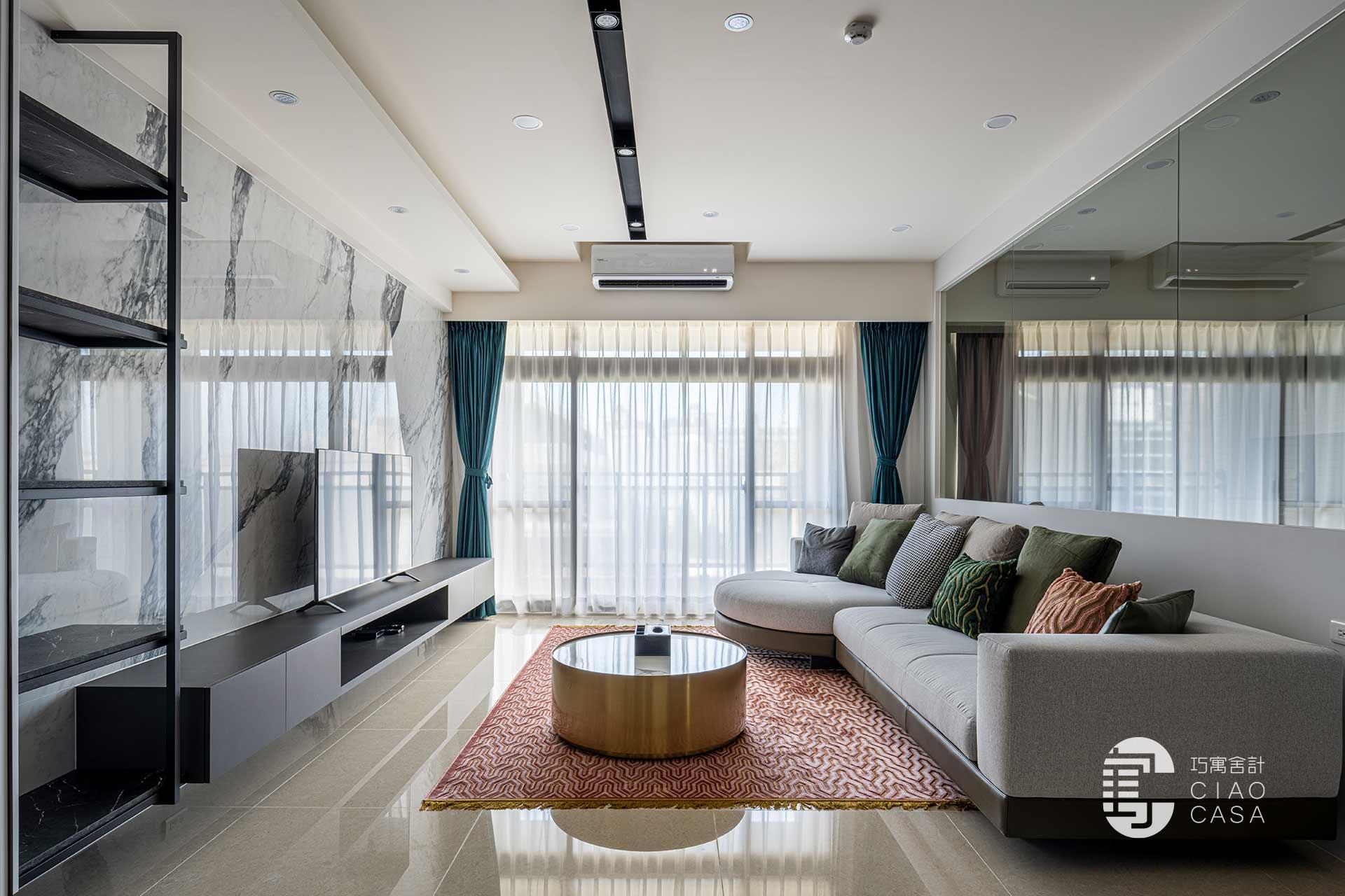 116坪現代風|溫暖透天宅,室內設計
