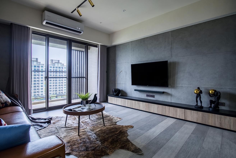 工業風的客廳-運用鐵件與文化石鋪陳,極具有個性風格;