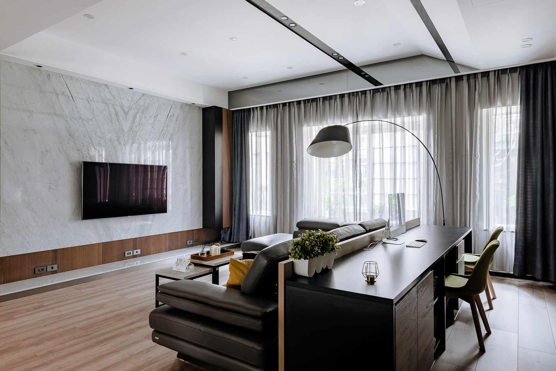 116坪現代風|溫暖透天宅,室內設計案例