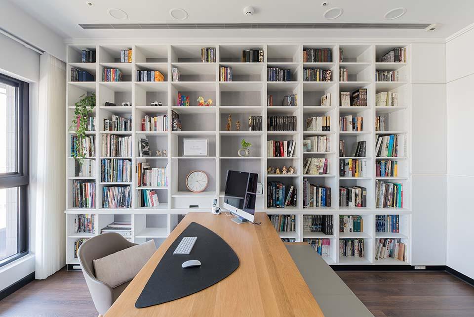 現代風書房設計作品;