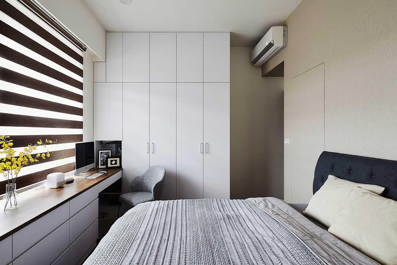 現代風的臥室-簡約的輪廓中帶點品味;