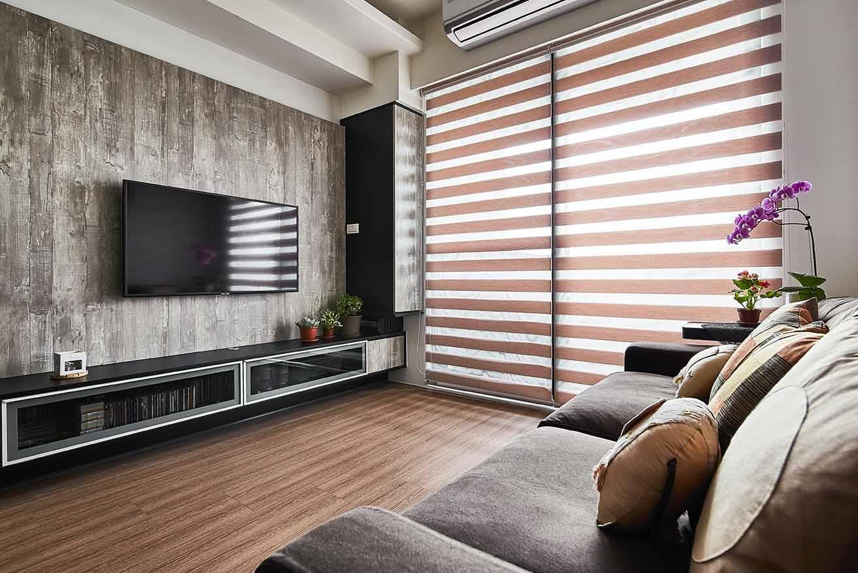 現代風-系統板電視牆;