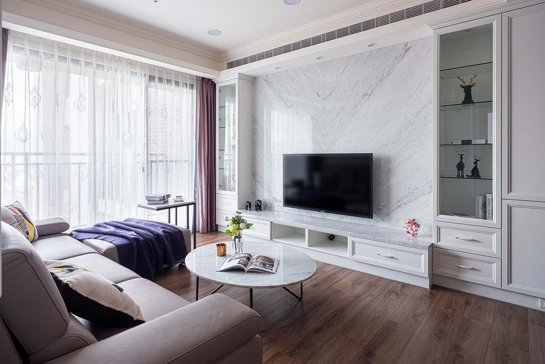 古典風-大理石設計電視牆;