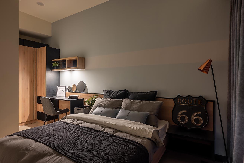 工業風的臥室-沉靜的工業風具有淡淡的療癒感;