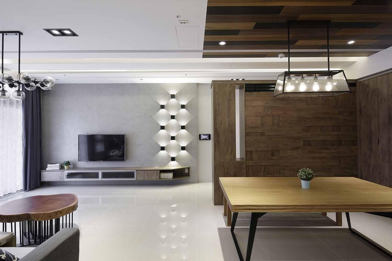 光影的魔法打造工業風質感宅,室內設計