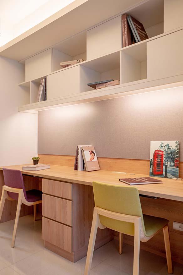 書房牆壁櫃設計;