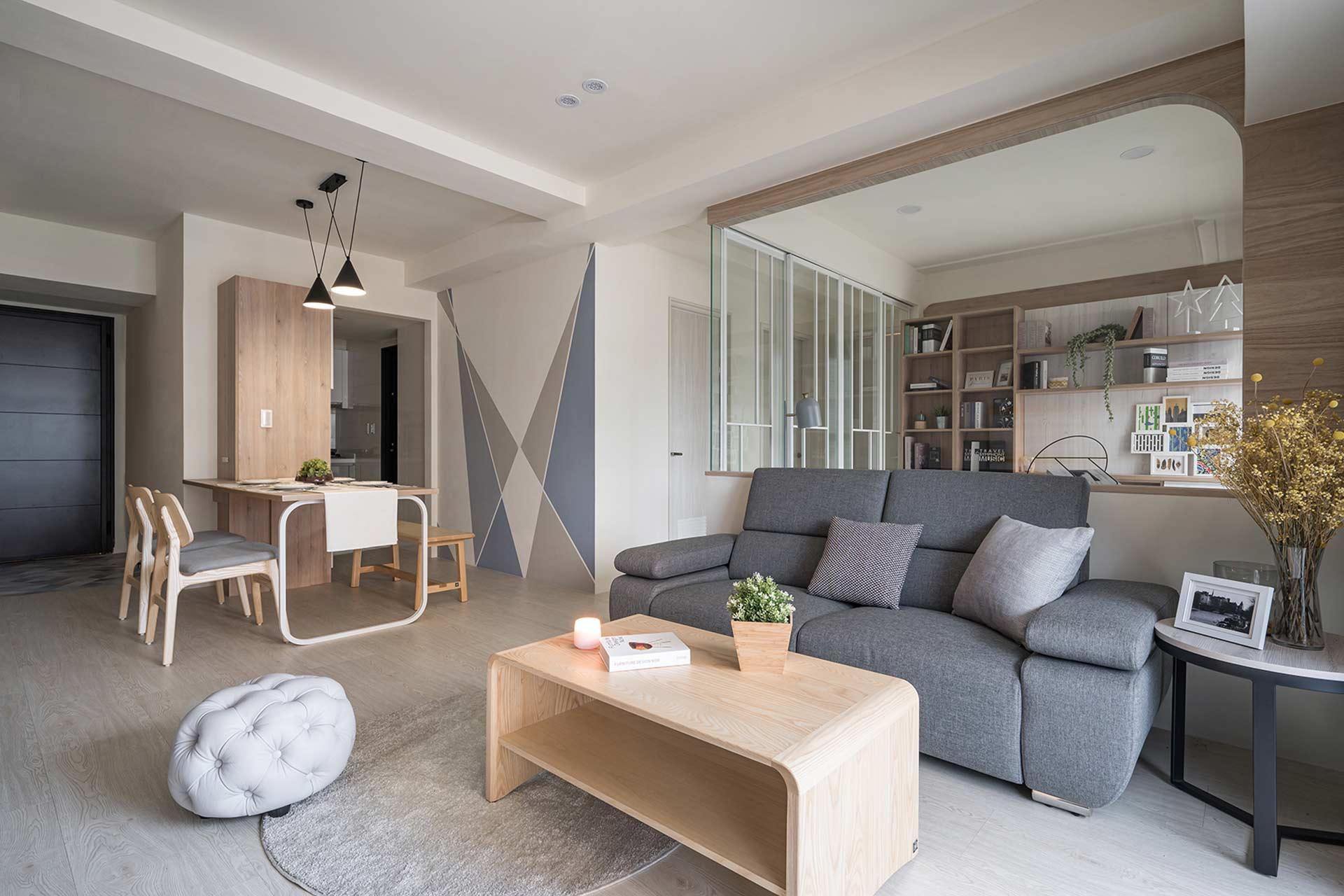 簡潔北歐風層次堆疊視覺開闊,室內設計案例