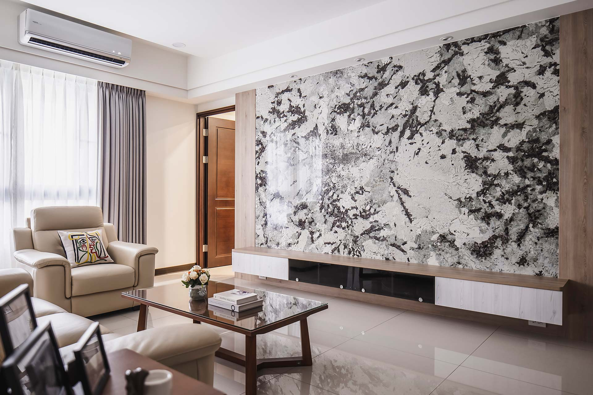 悠然奢華風山水恣意揮灑,室內設計案例