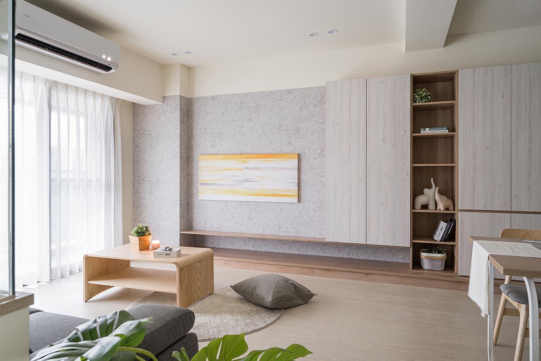 電視牆左右兩側櫃範例;